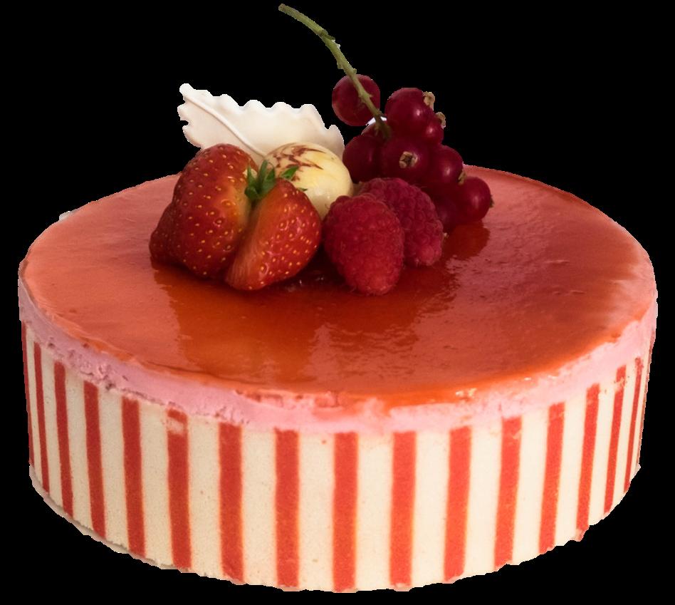 Rood fruit ijstaart web